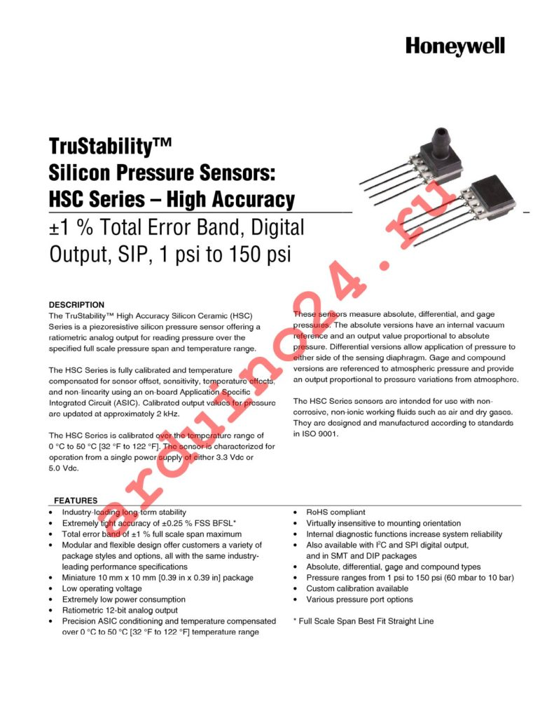 HSCSAND005PASA5 datasheet