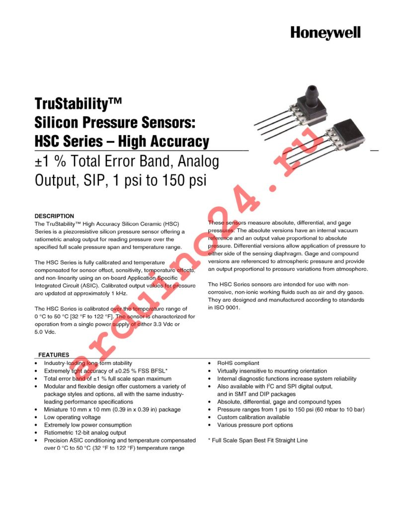 HSCSAND005PGAC3 datasheet