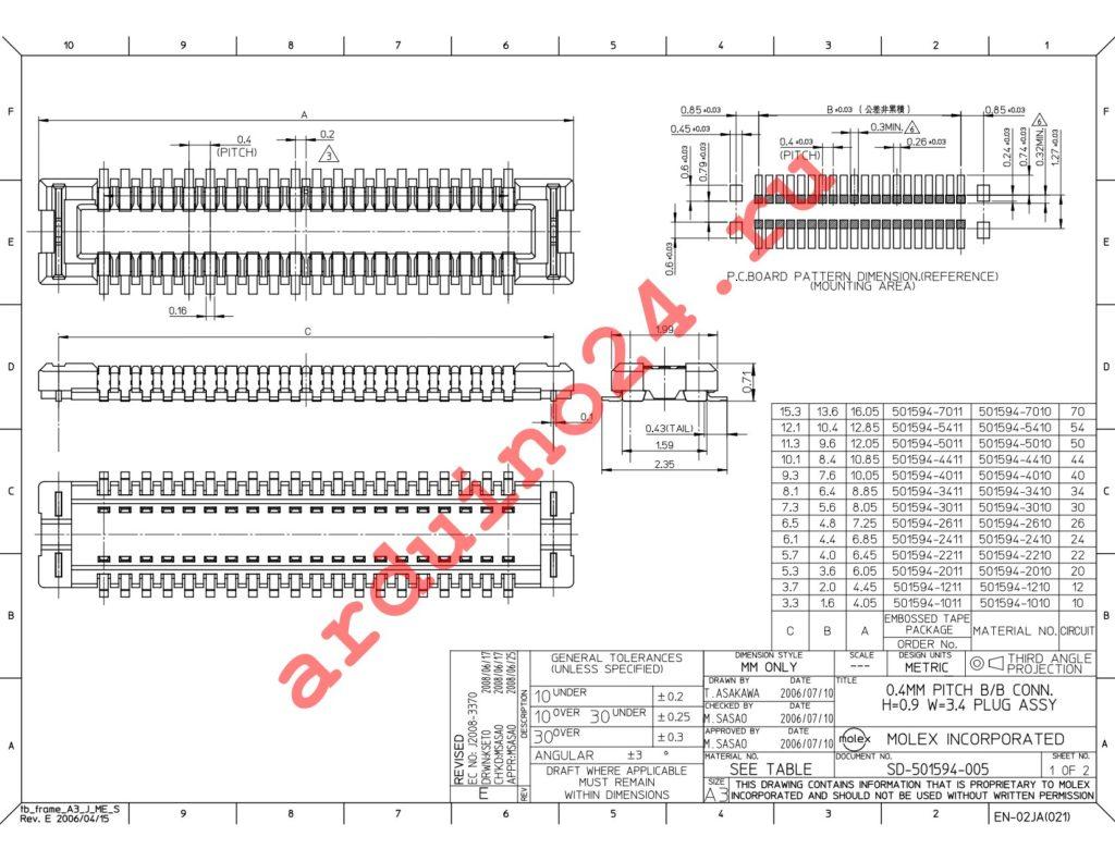 501594-7011 datasheet
