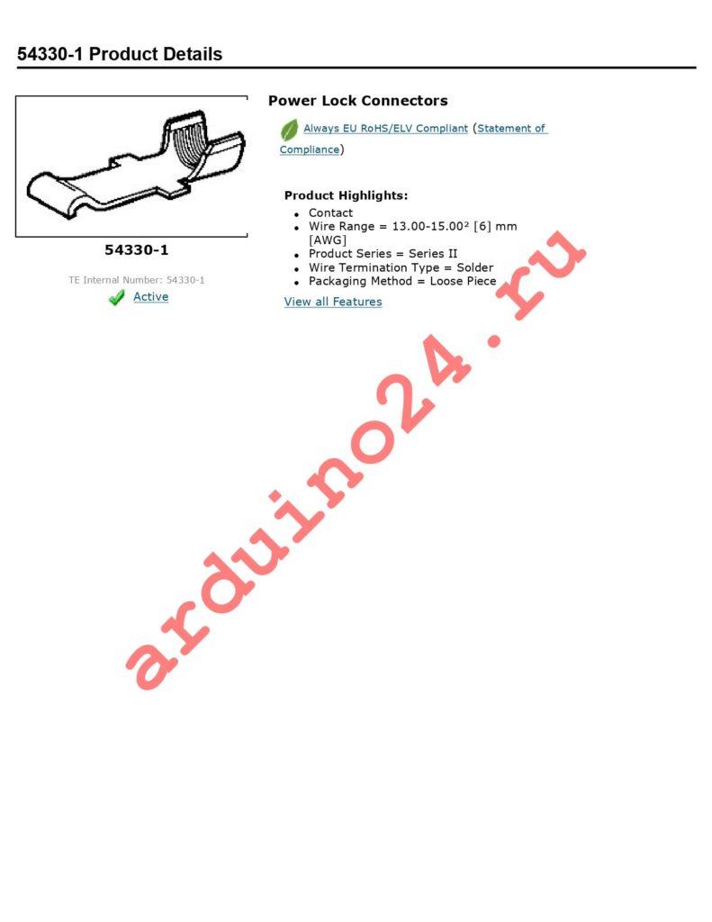 54330-1 datasheet