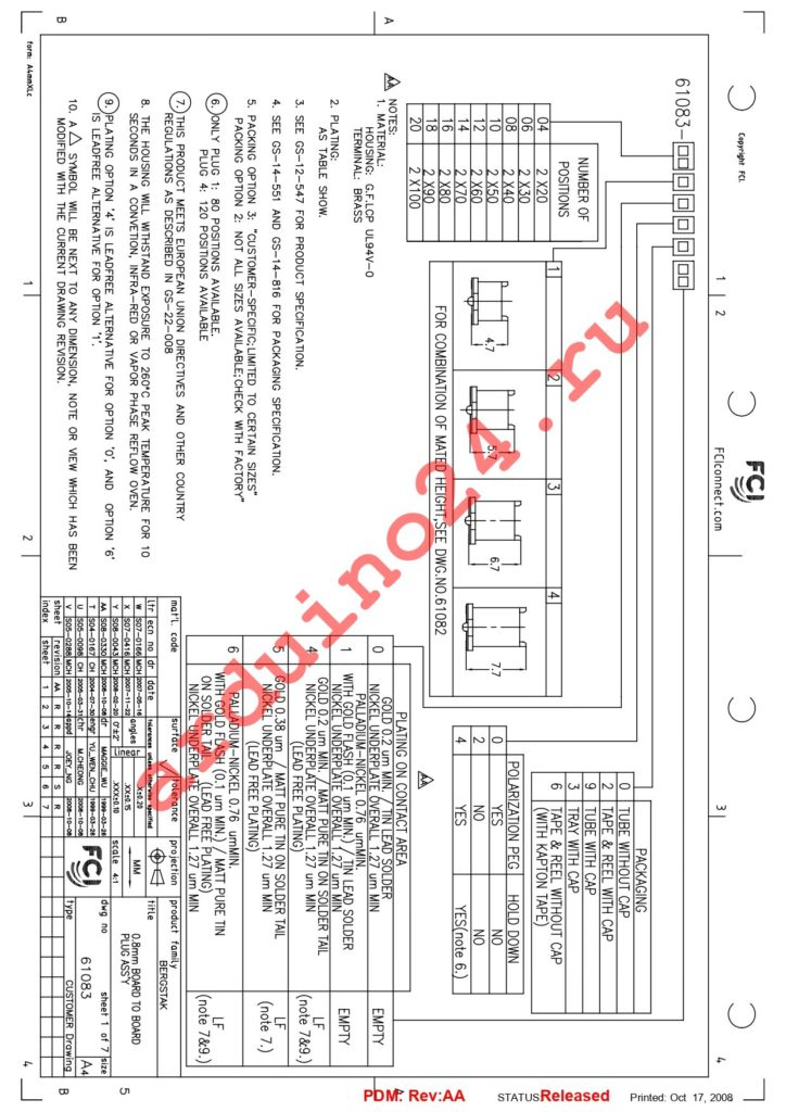 61083-101422LF datasheet