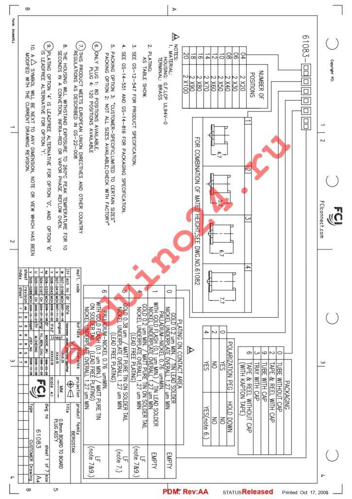 61083-121422LF datasheet