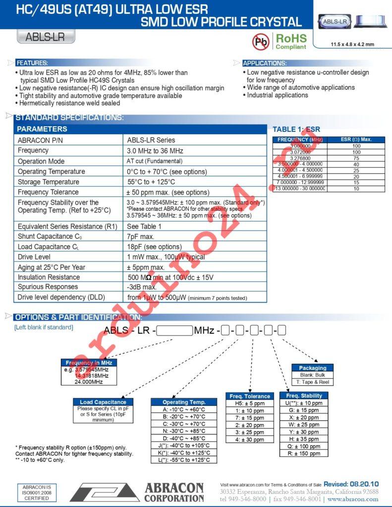 ABLS-LR-6.7458MHZ-T datasheet