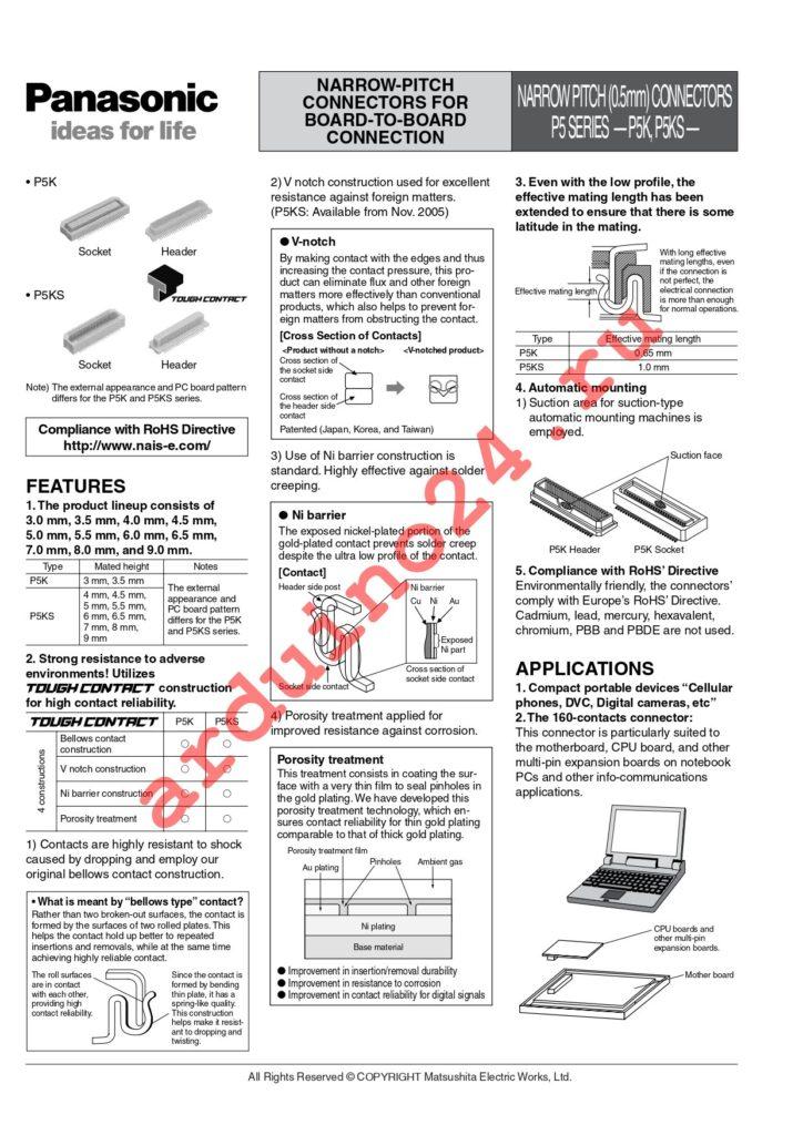 AXK5S50337YG datasheet