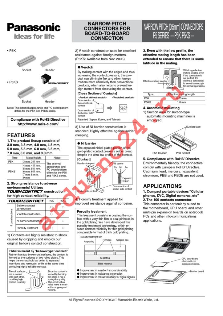 AXK6S50437YG datasheet