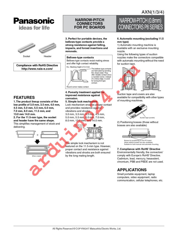 AXN330C038S datasheet