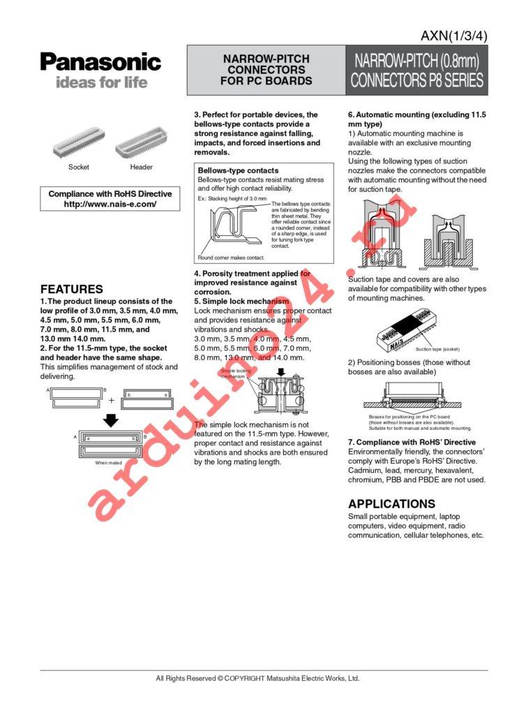 AXN360C038P datasheet