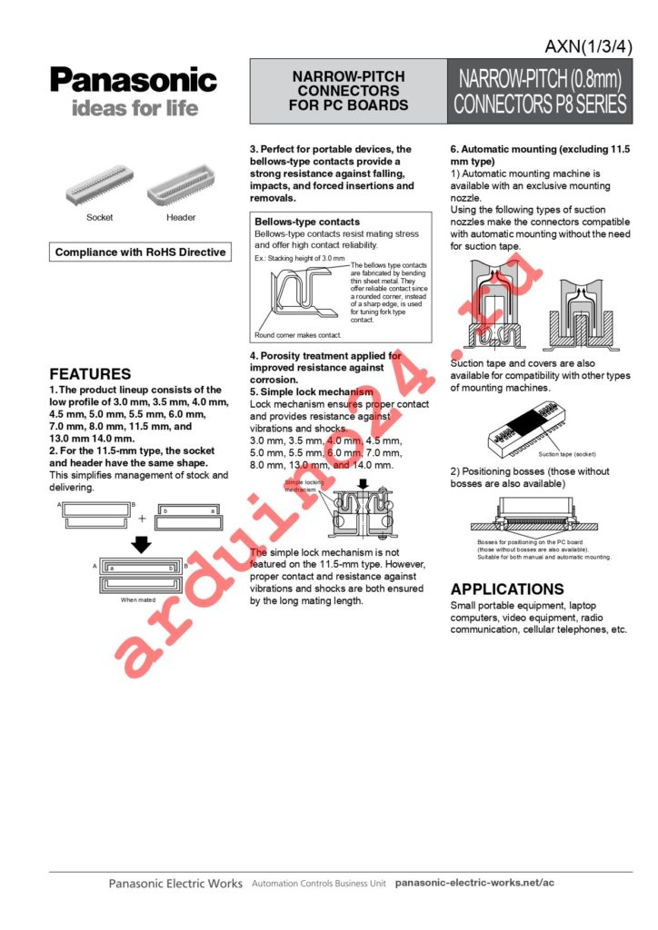 AXN380038P datasheet