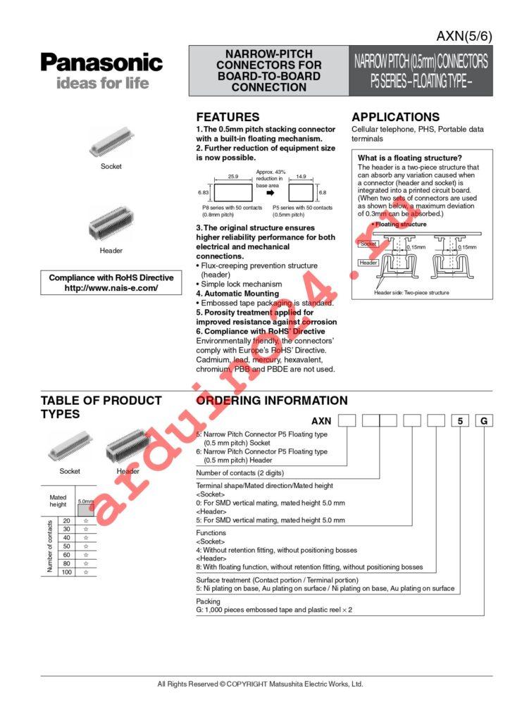 AXN630585G datasheet