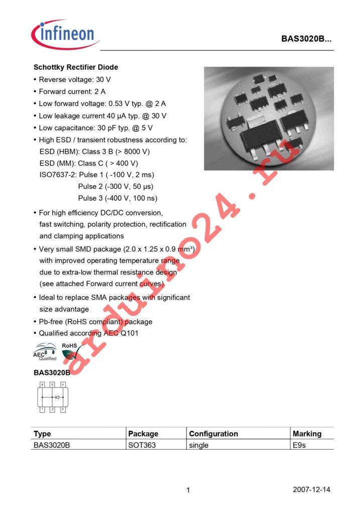 BAS 3020B H6327 datasheet
