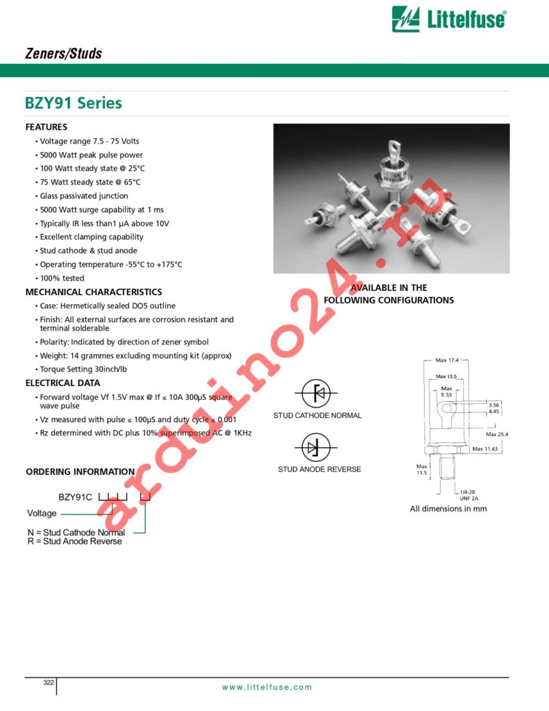 BZY91C62N datasheet