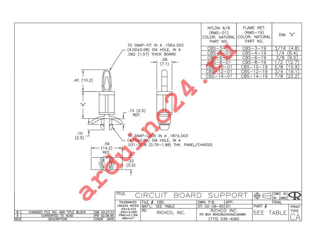 CBS-12-01 datasheet