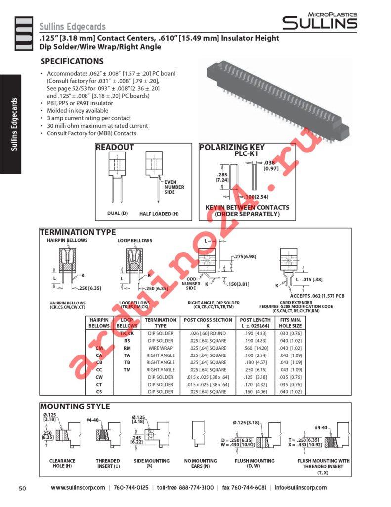 EMA10DRMD-S288 datasheet