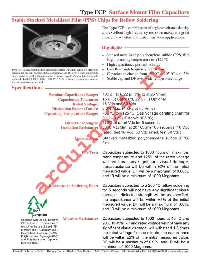 FCP1206C333G-H2 datasheet