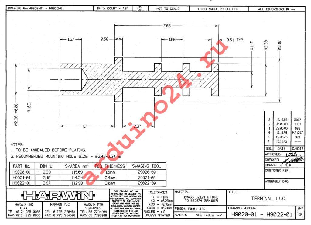 H9021-01 datasheet