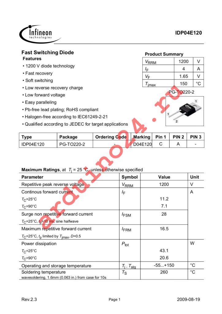 IDP04E120 datasheet