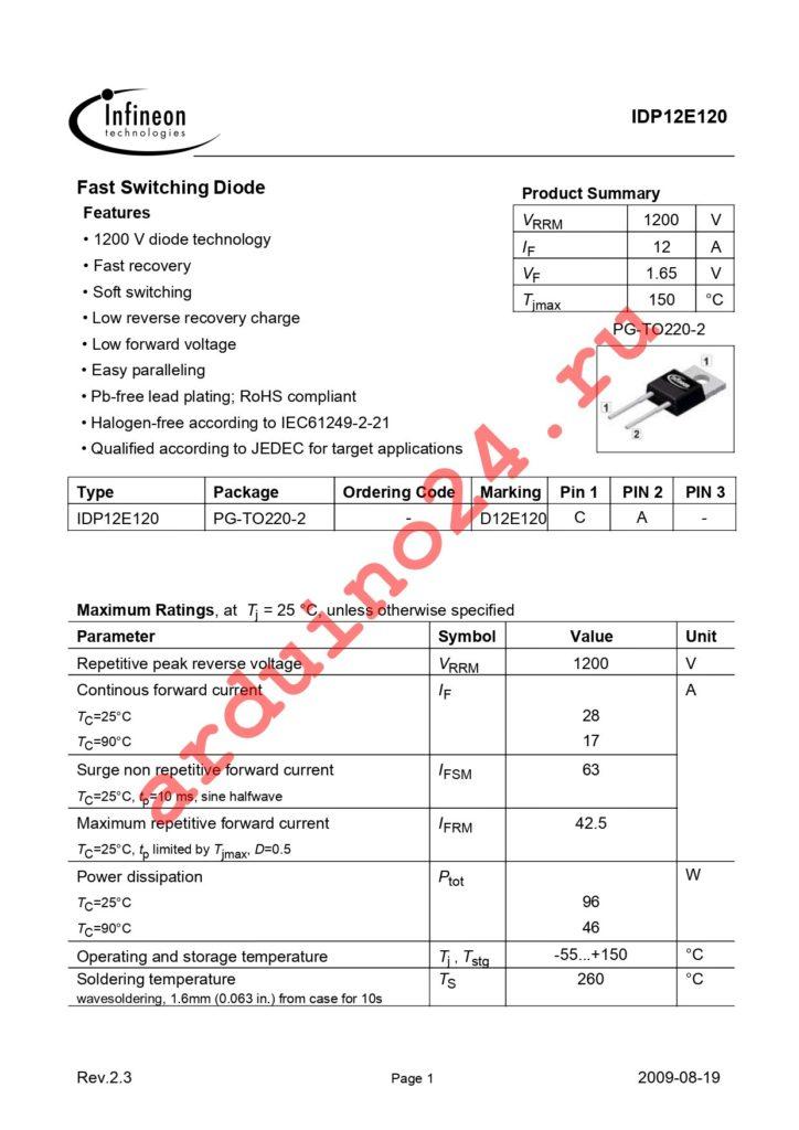 IDP12E120 datasheet