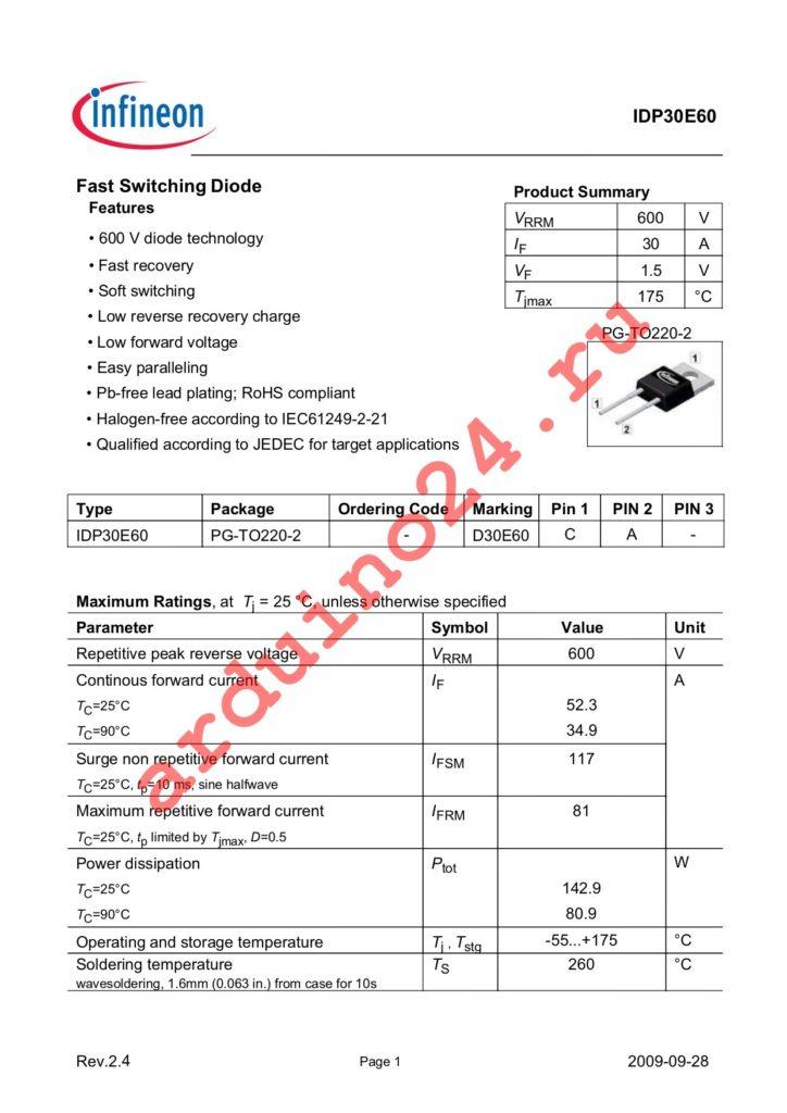 IDP30E60 datasheet