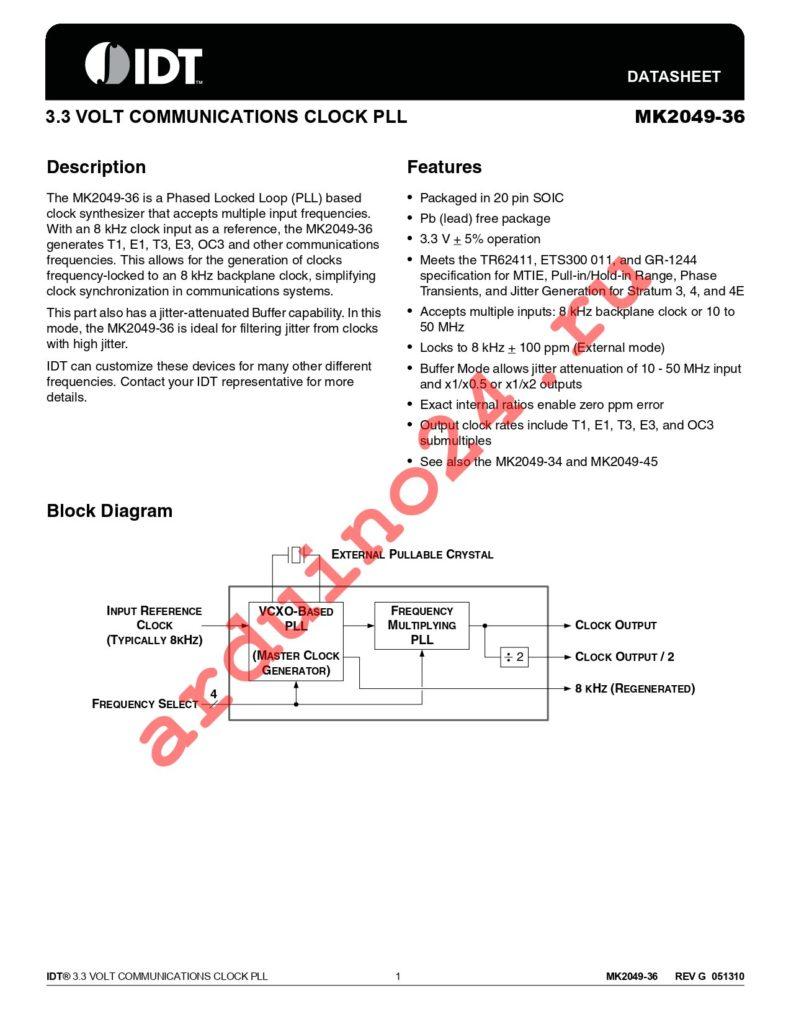 MK2049-36SILFTR datasheet