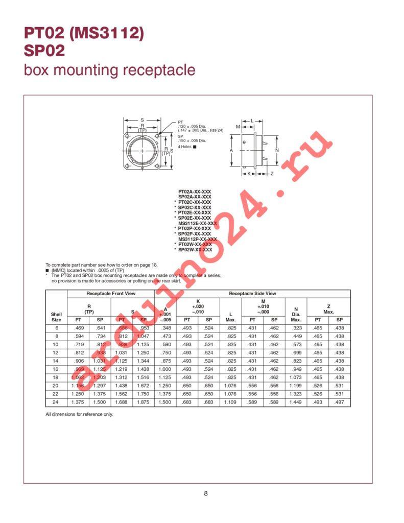 MS3114E12-10P datasheet