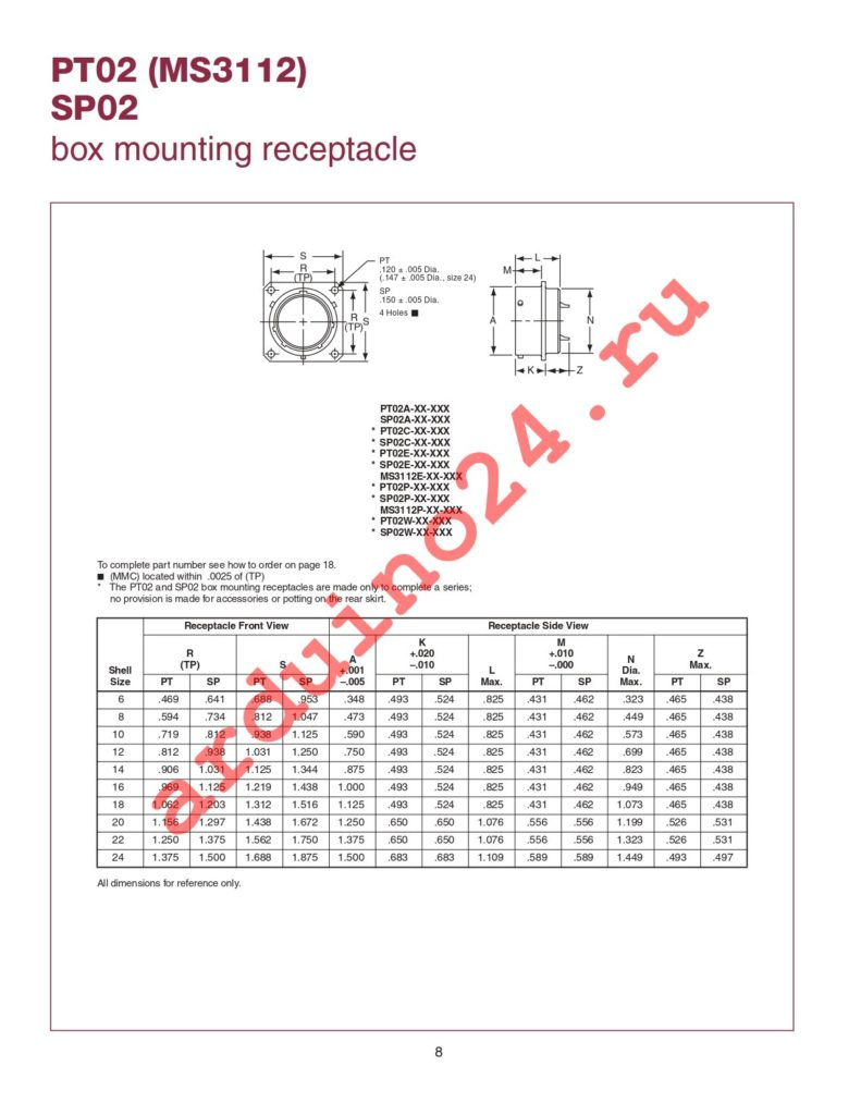 MS3114E12-3P datasheet