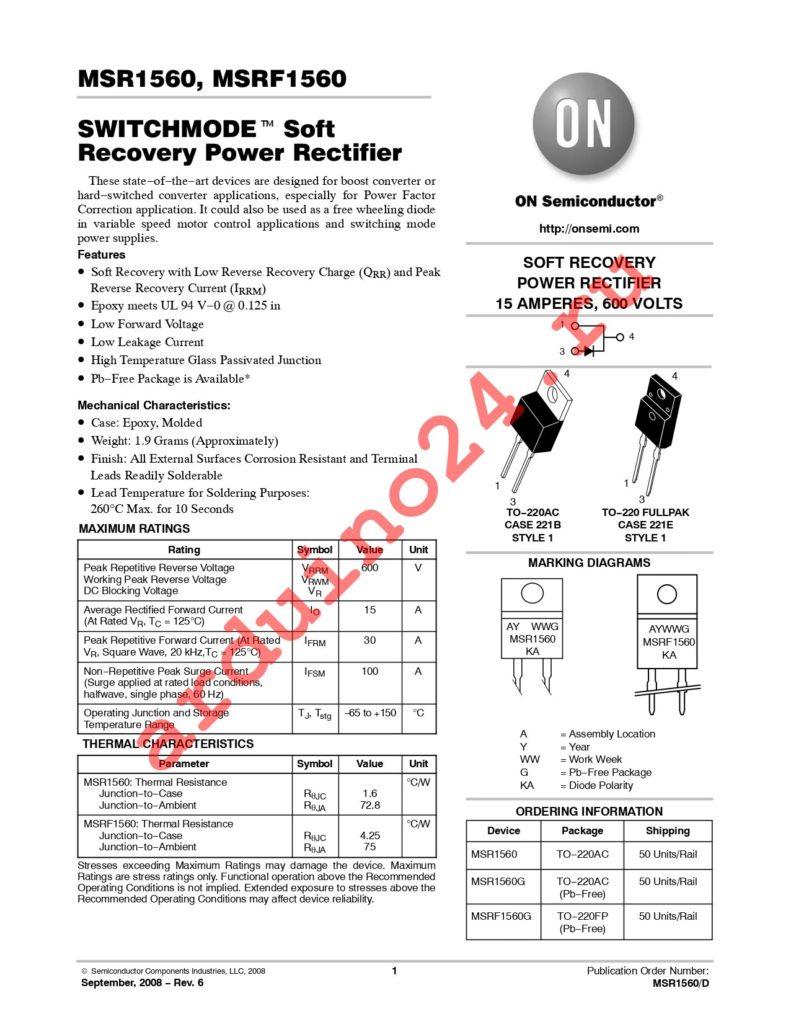 MSRF1560G datasheet
