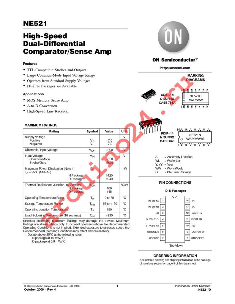 NE521DR2G datasheet