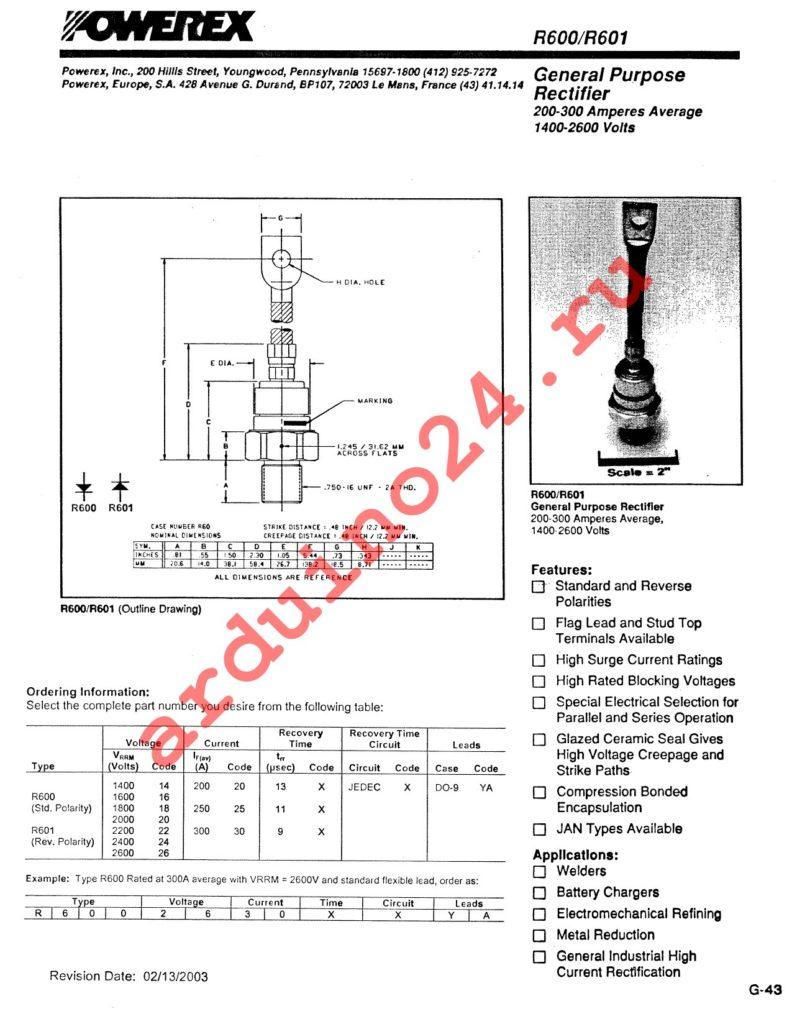 R6001830XXYA datasheet