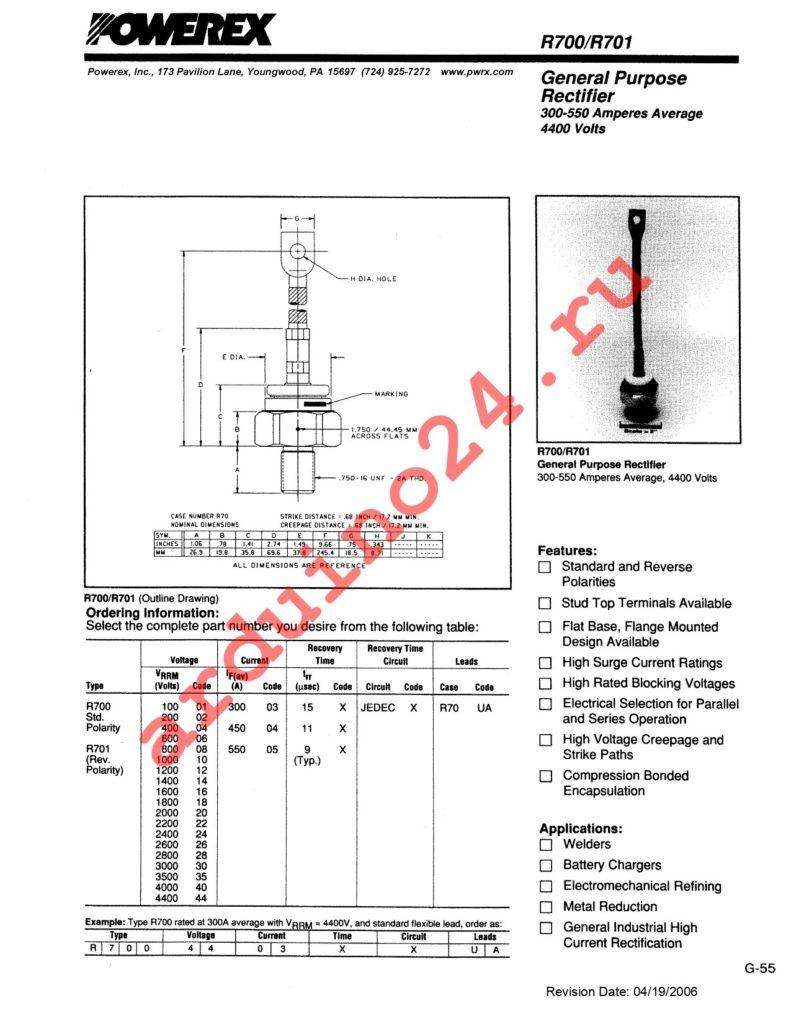 R7010803XXUA datasheet
