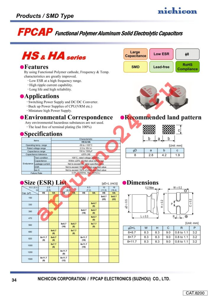 RHA0J391MCN1GS datasheet
