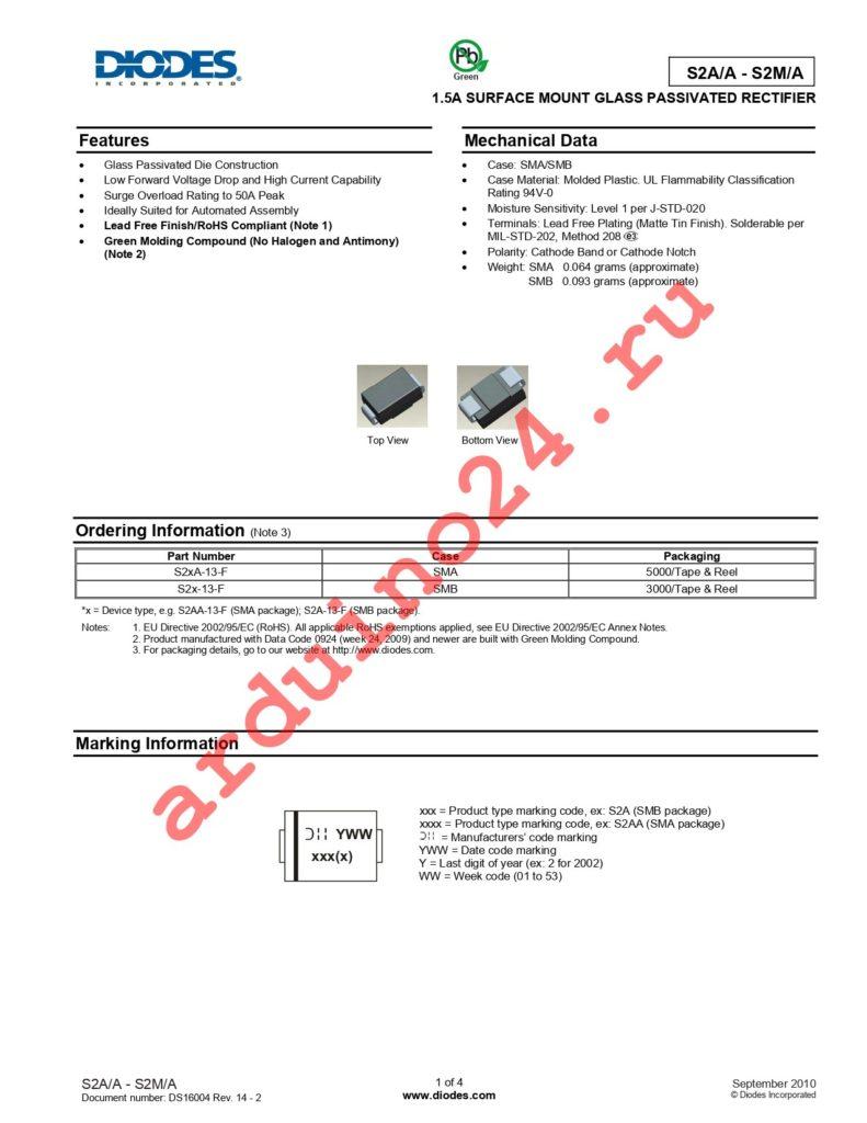 S2G-13 datasheet