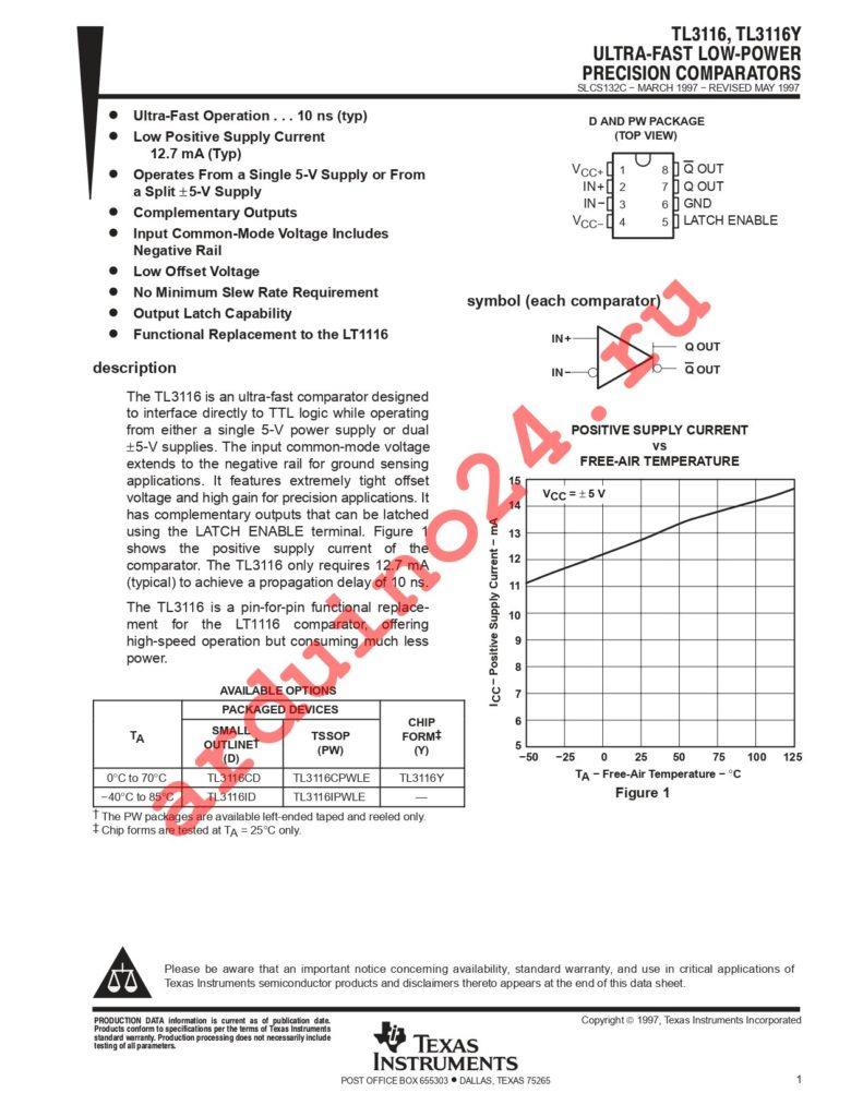 TL3116IPWG4 datasheet