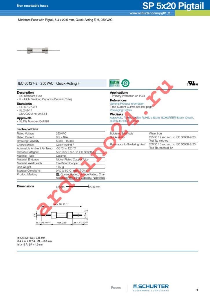 0001.1007.TR datasheet