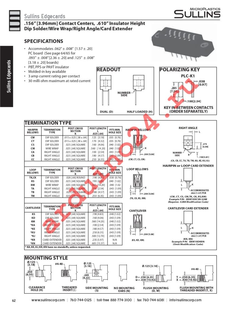 ACM31DTBH-S189 datasheet