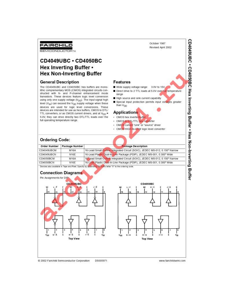 CD4050BCSJX datasheet
