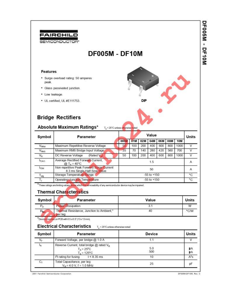 DF10M datasheet