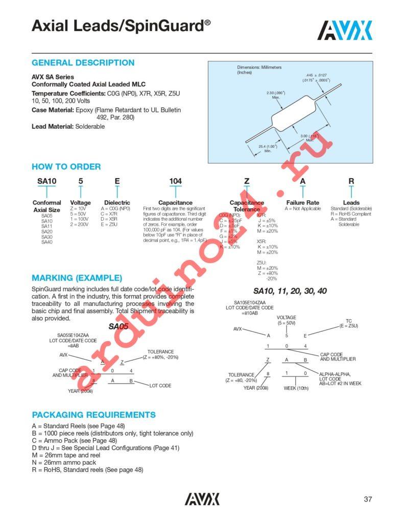SA305A472GAA datasheet