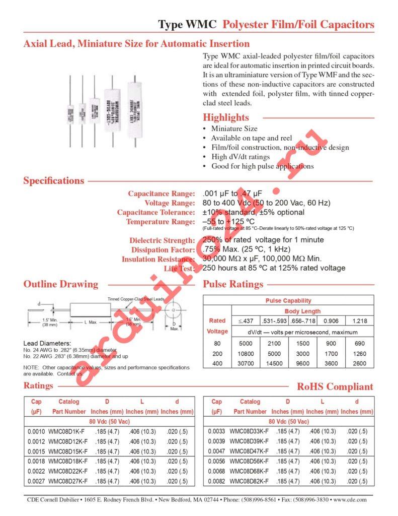 WMC08S68K-F datasheet