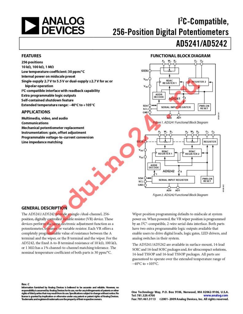 AD5241BRZ10 datasheet