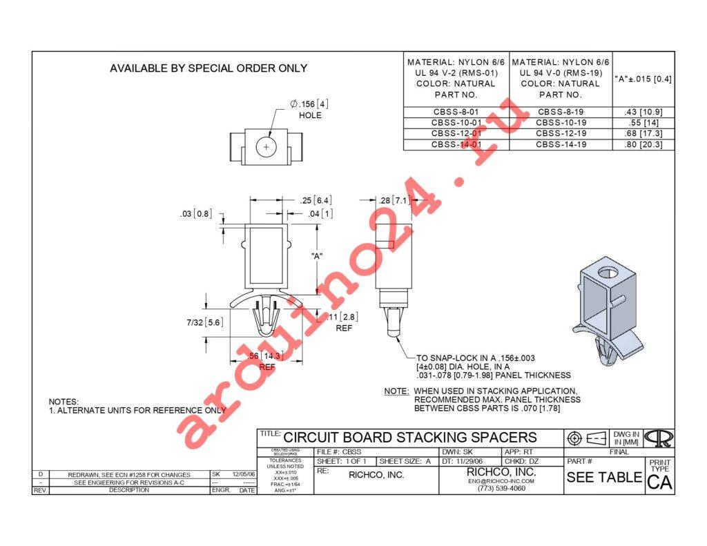 CBSS-12-01 datasheet
