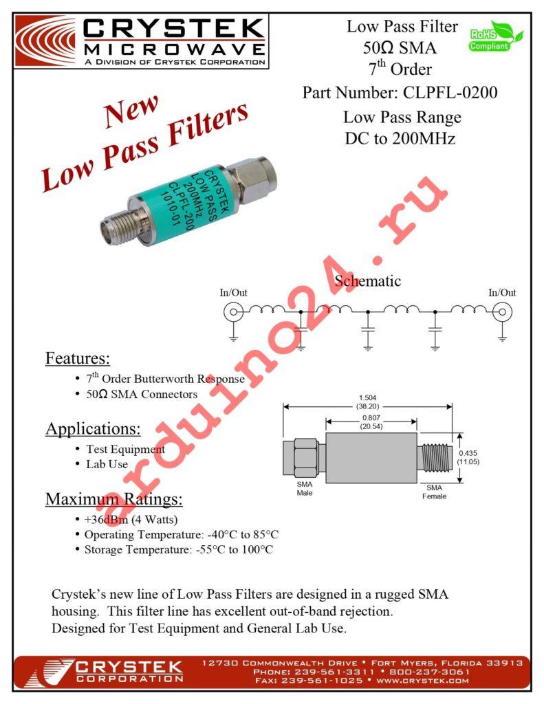CLPFL-0200 datasheet