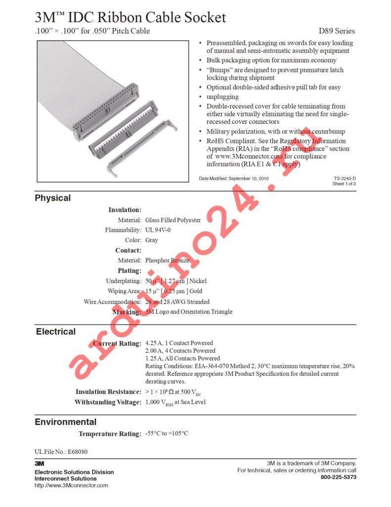 D89126-0001HK datasheet