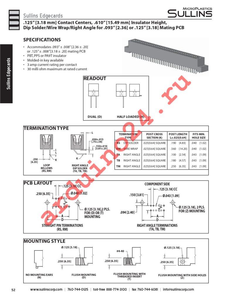 ECA30DTBD-S273 datasheet