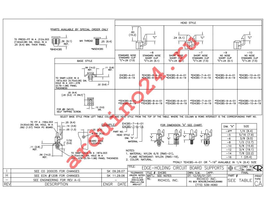 EHCBS-12-01 datasheet