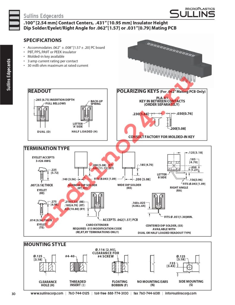 HCC30DRXS-S734 datasheet