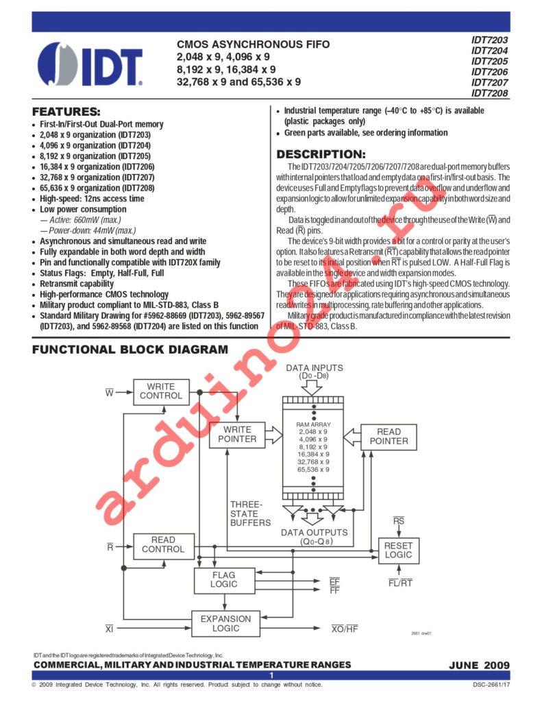 IDT7207L15PDG datasheet