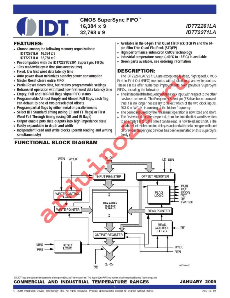 IDT72271LA15PF8 datasheet