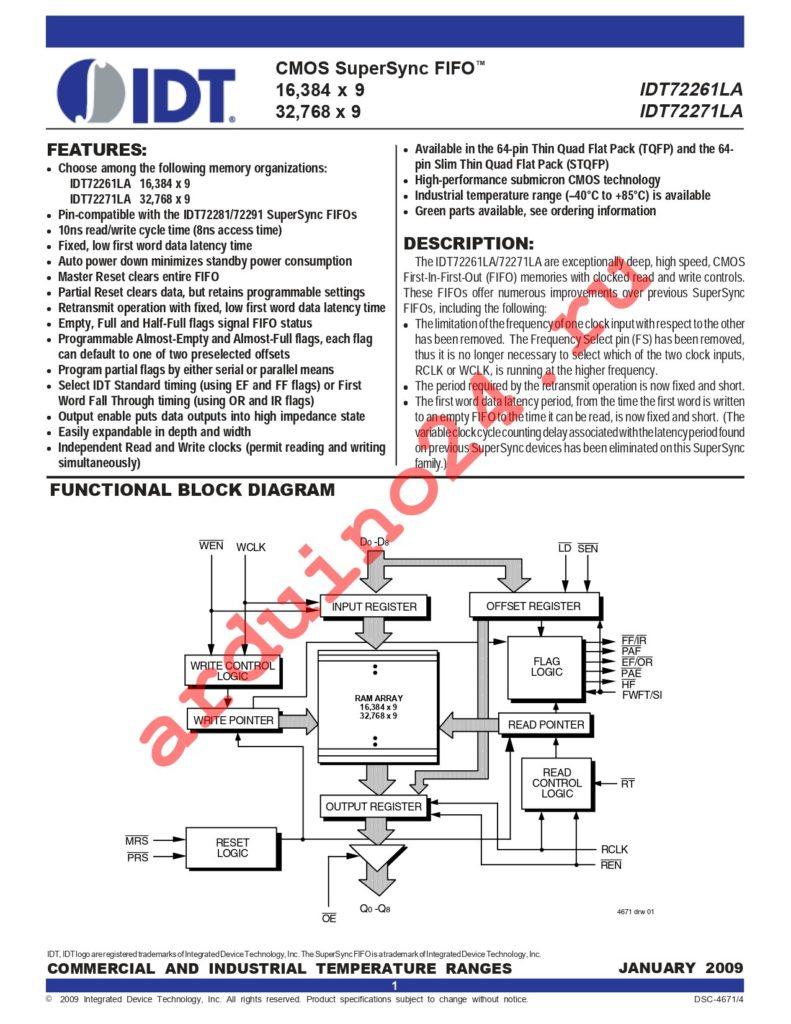 IDT72271LA20PFI8 datasheet