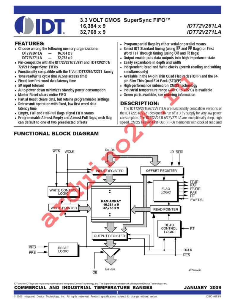IDT72V271LA15PF8 datasheet