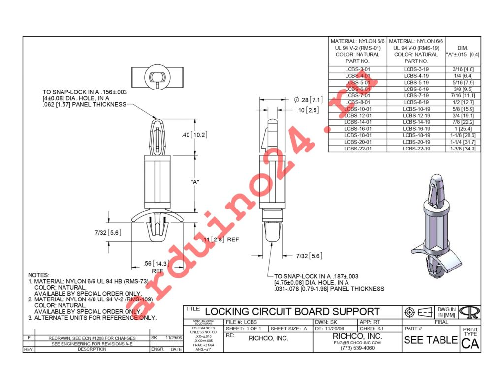 LCBS-22-19 datasheet